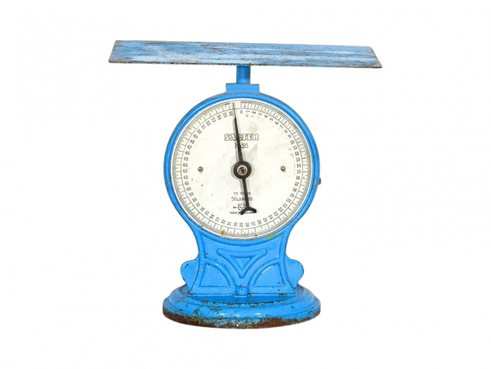 Blue Vintage Scales for Hire