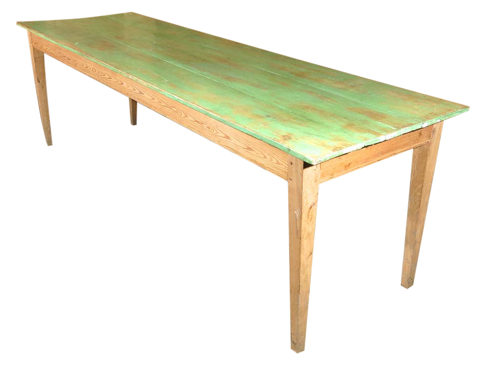 Vintage Wood Refectory Table for Hire