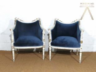 Vintage French Upholstered Chairs for Hire