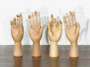 Decorative Wooden Hands for Hire
