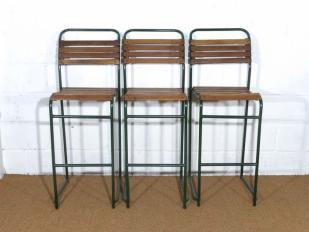 Wooden and Metal High Stools for Hire