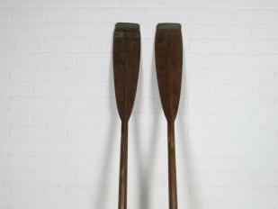 Vintage Wooden Oars for Hire