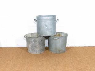 Vintage Zinc Bucket for Hire