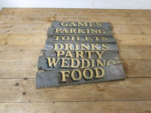 Distressed Wooden Signs for Hire