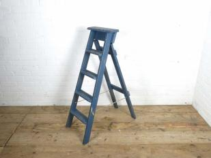 Blue Wooden Rustic Ladder for Hire