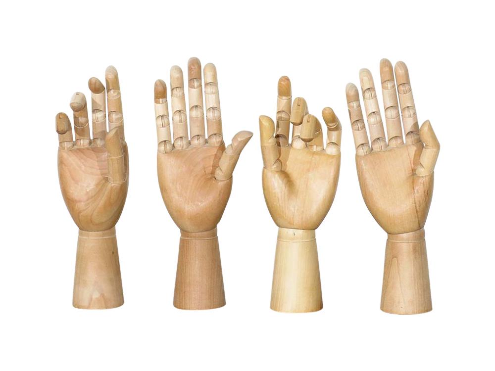 Decorative Wooden Hands for Hire Devon