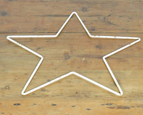 Distressed Metal Stars for Hire Devon, South East