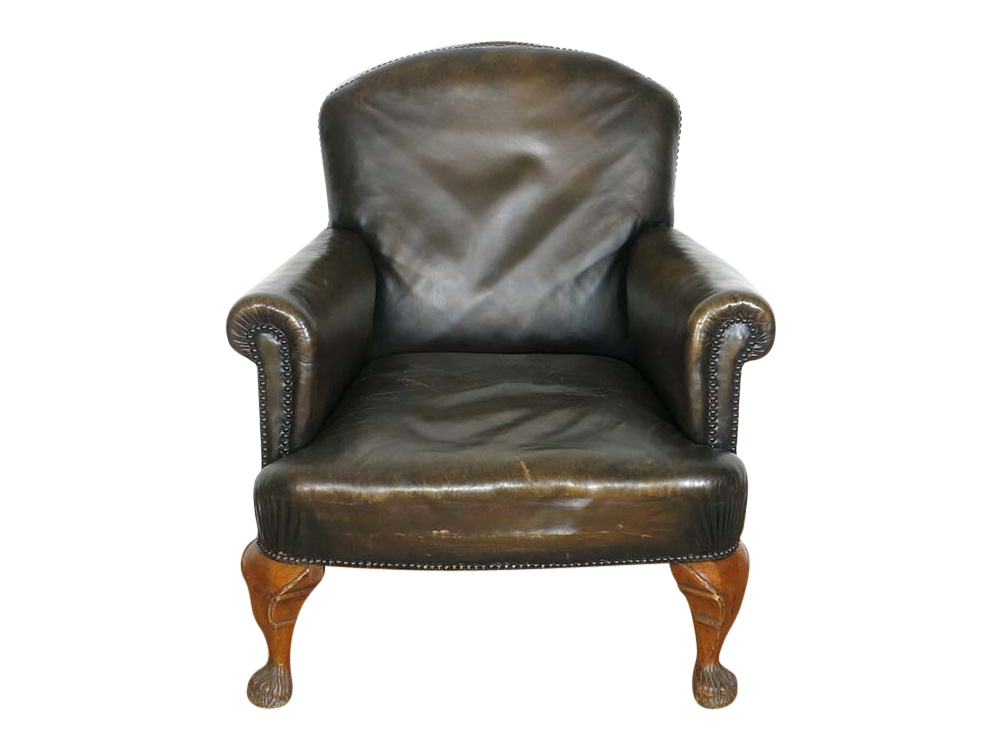 Vintage Leather Armchair For Hire Devon