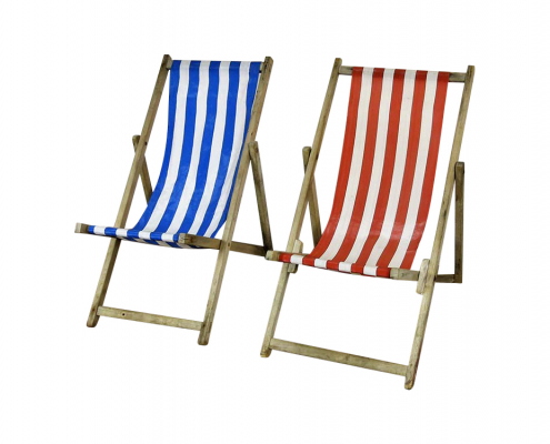 Vintage Blackpool Deck Chairs for Hire