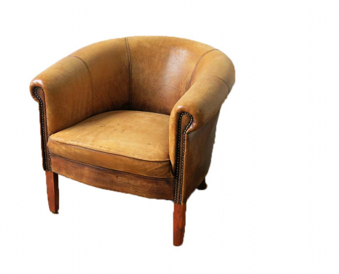 Vintage Leather Armchair for Hire Scotland