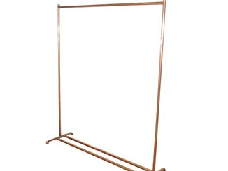 Copper Clothes Rail For Hire Devon