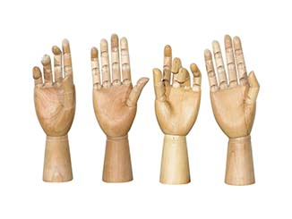Decorative Wooden Hands for Hire Devon