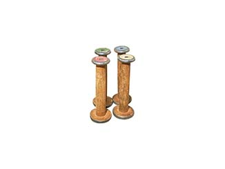 Vintage Wooden Spools for Hire