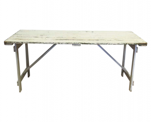 Worn White Table for Hire Scotland
