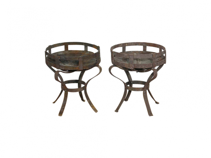 Rustic Metal Fire Pit for Hire