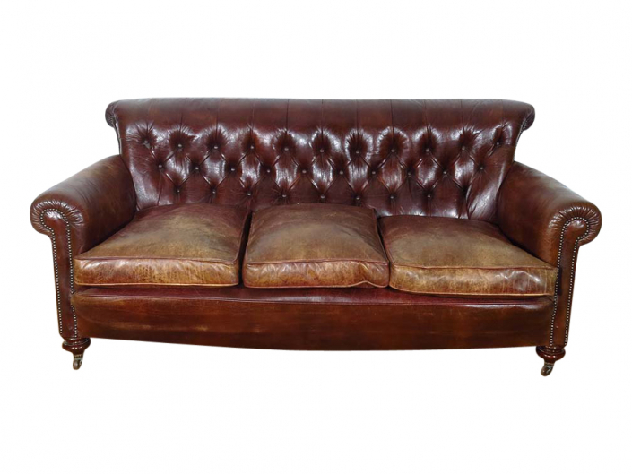 Vintage Leather Sofa for Hire