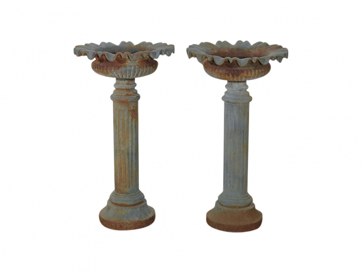 Rustic Cast Iron Urns for Hire