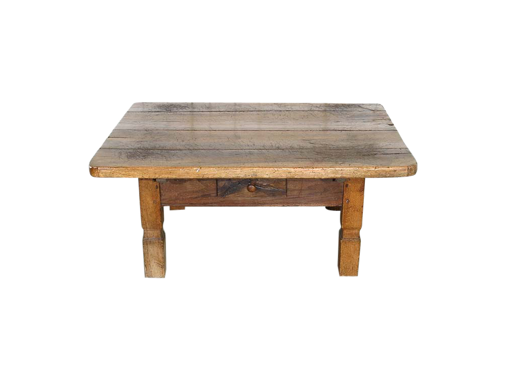 Distressed Wooden Coffee Table for Hire
