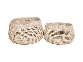 Handmade Seagrass Baskets for hire Devon, South West