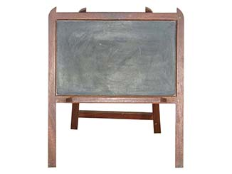 Table Top Blackboard for Hire