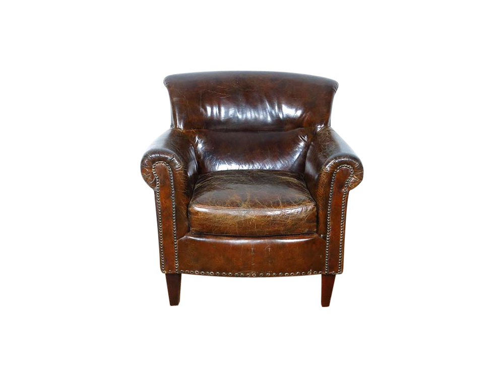 Brown Leather Chair for Hire