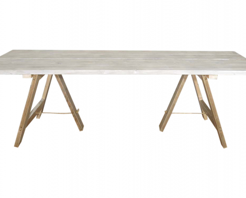 Whitewashed Trestle Tables for Hire
