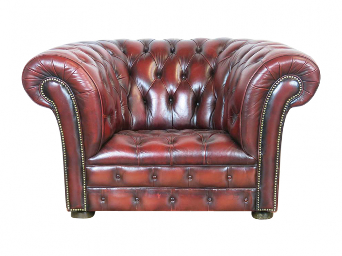Vintage Leather Oxblood Armchair for Hire Scotland