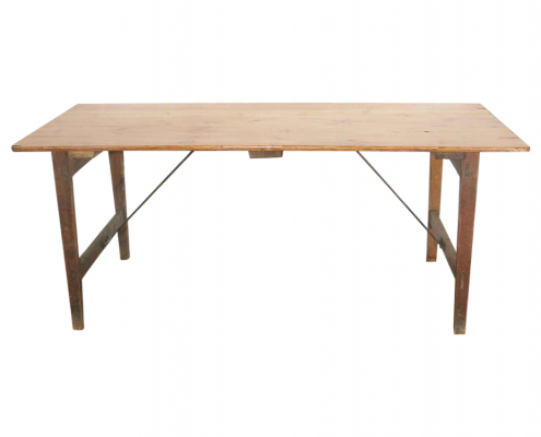 Vintage Pine Trestle Table for Hire