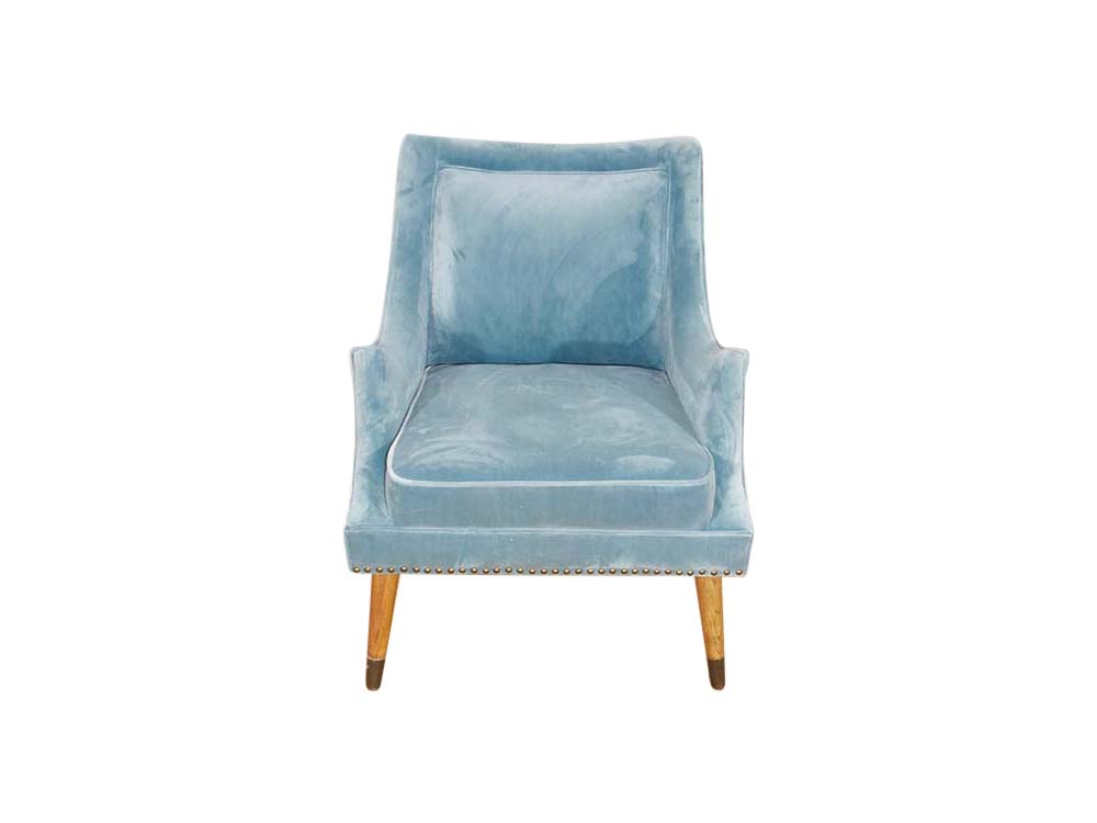 Blue velvet accent chair for Hire London, South East