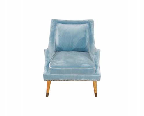 Blue velvet accent chair for Hire Devon, South West