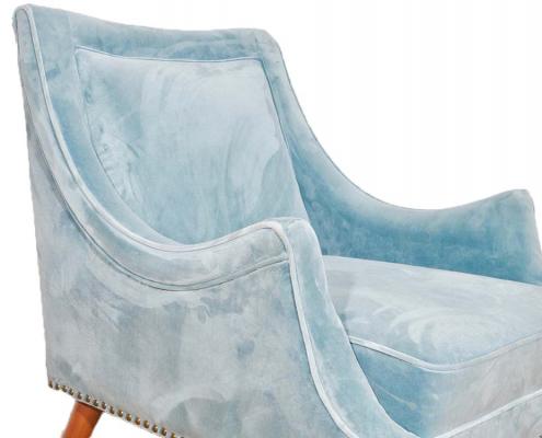 Blue velvet accent chair for Hire Devon, South West