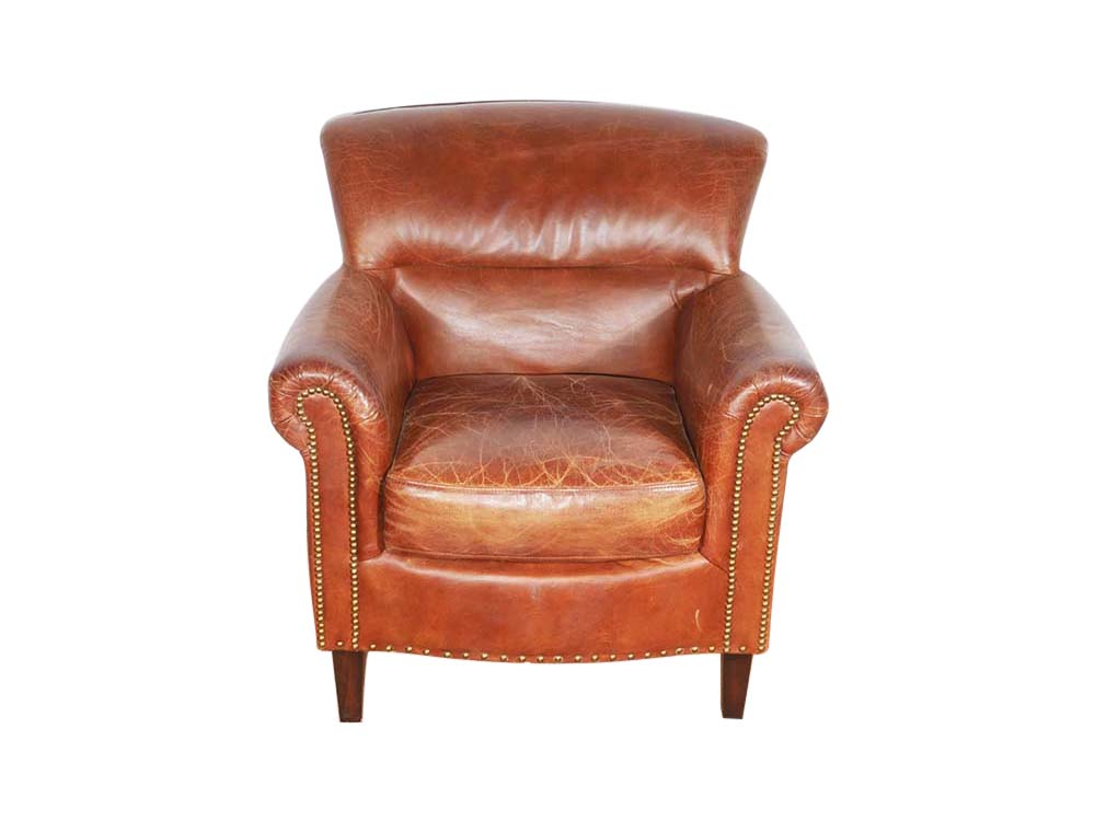 Classic Leather Club Armchair for Hire Devon, South West