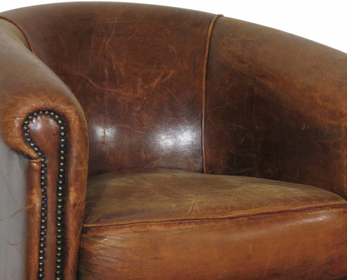Distressed Vintage Tub Chair for Hire