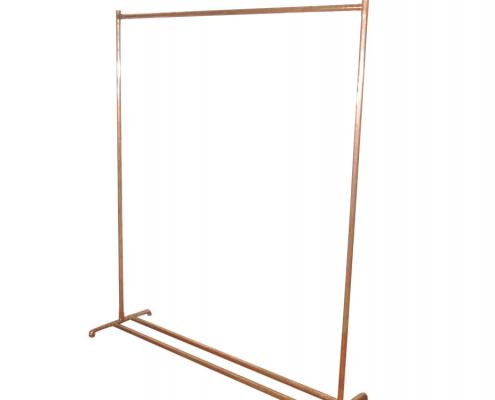 Copper Clothes Rail For Hire Devon