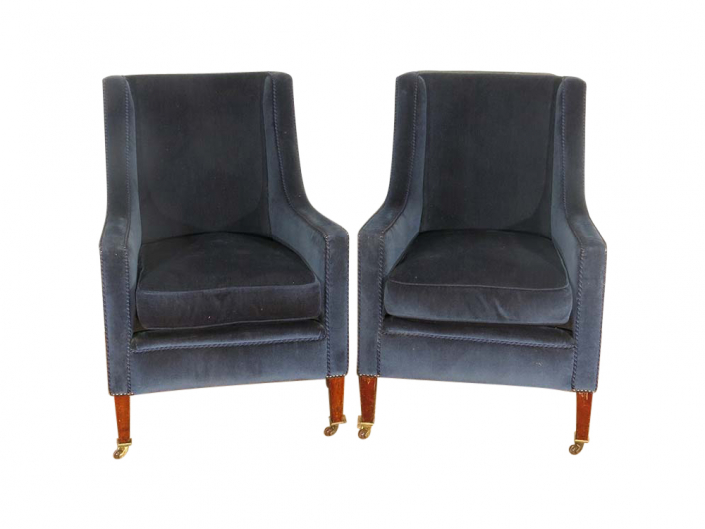 Blue Upholstered Chair for Hire