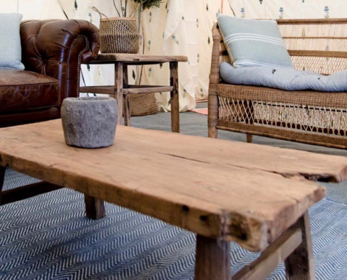 Antique Elm Coffee Table for Hire