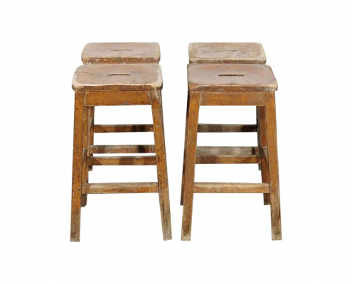 Vintage Wooden Laboratory Stools for Hire Devon, South West