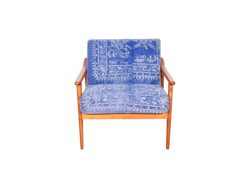 Antique Chinese Indigo Chinese Chair for Hire Devon, South West