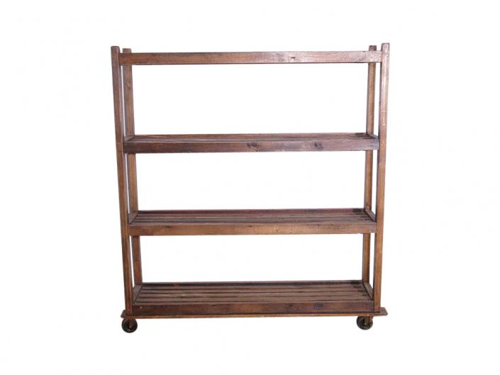 Wooden Slatted Shelf for Hire