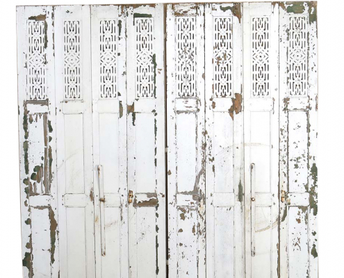 Distressed White Painted Shutters for Hire