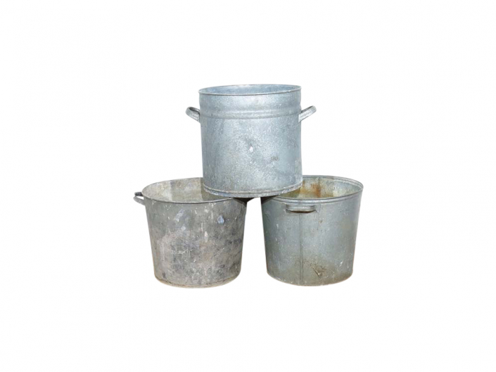 Vintage Zinc Bucket for Hire