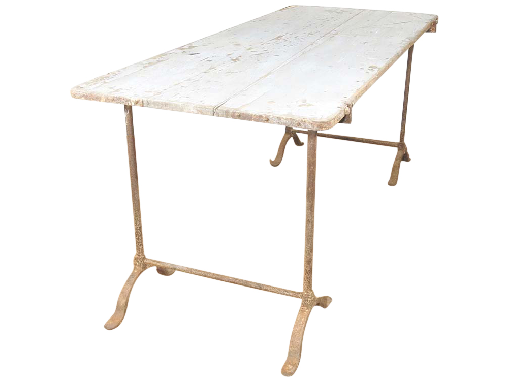 Vintage distressed painters table to hire