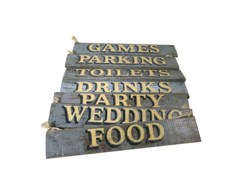 Distressed Wooden Signs for Hire Devon, South West