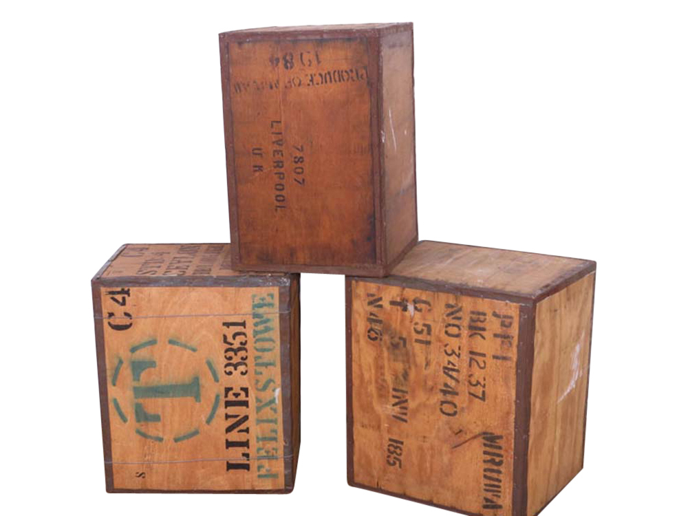 Old Tea Chests for Hire
