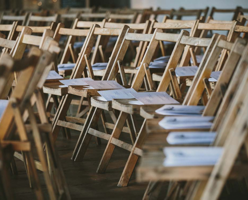 Vintage Wooden Folding Chair for Hire Edinburgh