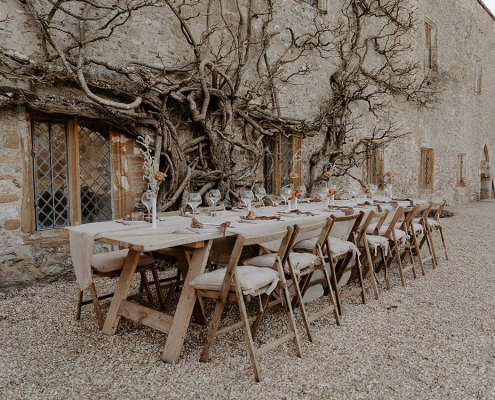 Whitewashed Trestle Tables for Hire Devon, South West