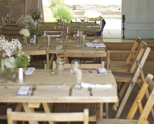 Wooden Trestle Tables for Hire Perthshire