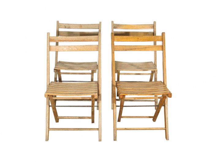 Wooden Folding Chairs for Hire Devon, South West