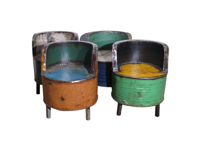 Recycled Oil Drum Chair Hire Bristol