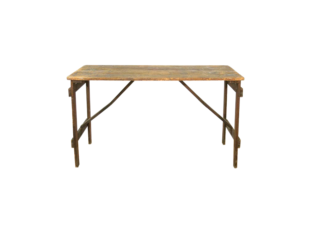 Vintage Wooden Table for Hire
